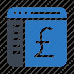 currency, internet, webpage, window, yen icon