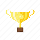 first, golden, star, trophie, winner, winner cup icon