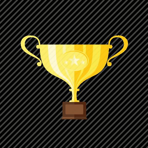 first, golden, star, trophie, winner, winner cup icon