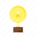 gold, golden, medal, star, trophie, win, winner icon