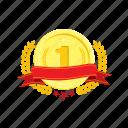 banner, coin, golden, one, trophie, wheat, winner, 1 icon
