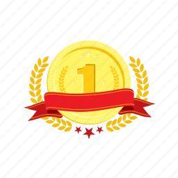 banner, coin, golden, one, trophie, wheat, winner icon