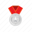 banner, medal, silver, star, trophie, wheat, winner icon