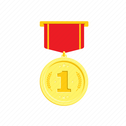 gold, golden, medal, one, red, trophie, wheat icon