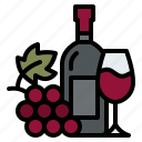 bottle, glass, grape, winery