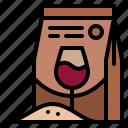wine, yeast, making, bag
