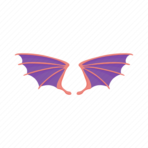 background, cartoon, cute, dragon, monster, violet, wings icon