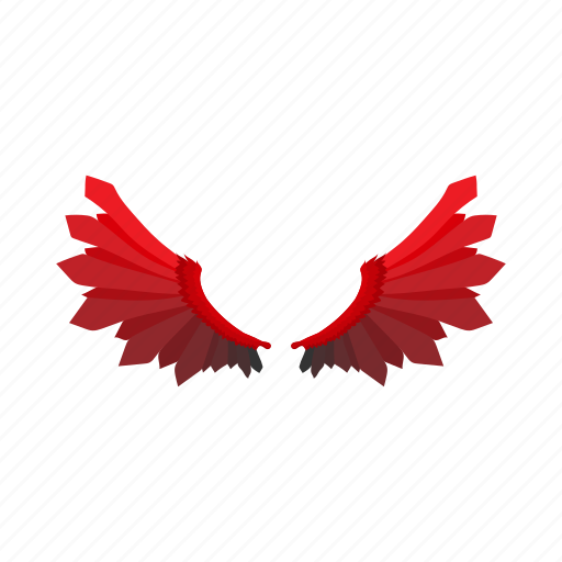 angel, background, cartoon, devil, halloween, holiday, wing icon