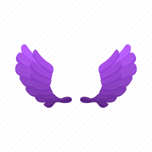 abstract, cartoon, design, pair, shape, violet, wing icon