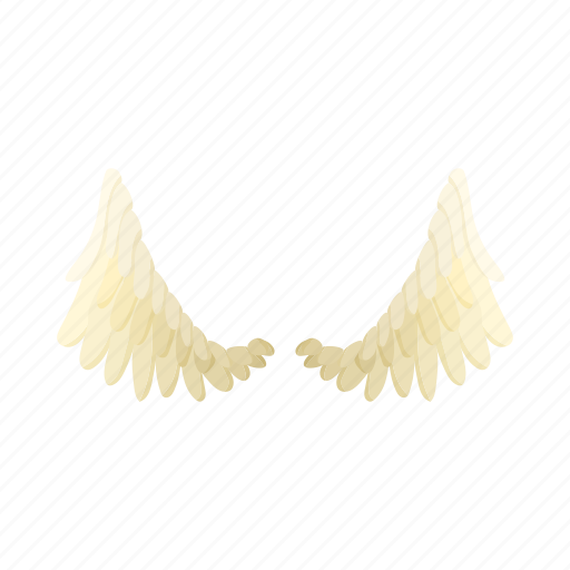 angel, background, cartoon, feather, pair, white, wing icon