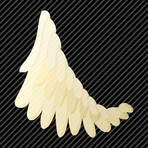 angel, art, bird, cartoon, feather, fly, wing icon