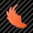 abstract, art, bird, cartoon, graphic, orange, wing icon
