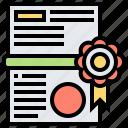 achievement, award, certificate, document, graduation