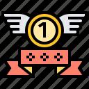 badge, award, prize, medal, ribbon