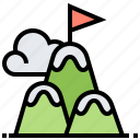 mountain, adventure, challenge, peak, top