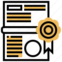 achievement, award, certificate, document, graduation icon