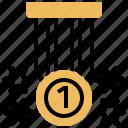 award, medal, medallion, prize, win icon