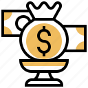 award, bank, money, prize, win icon