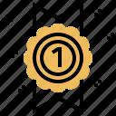 award, badge, band, ribbon, win icon