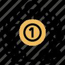award, first, medal, winner, wreath icon