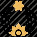 award, olive, prize, winning, wreath icon