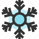 snow, snowflake, weather, winter icon