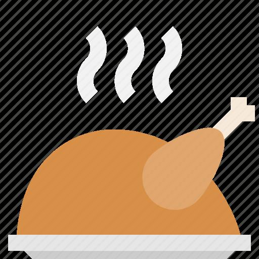 chicken, festive, fried, turkey icon