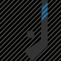 hockey, puck, sport, stick icon