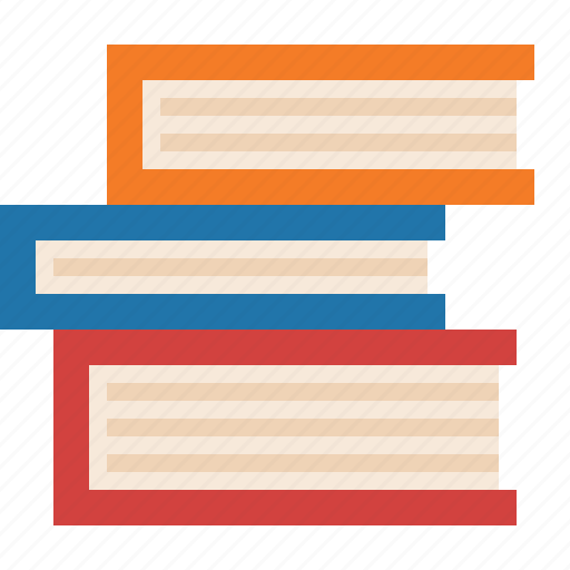 book, novel, reading, stack icon