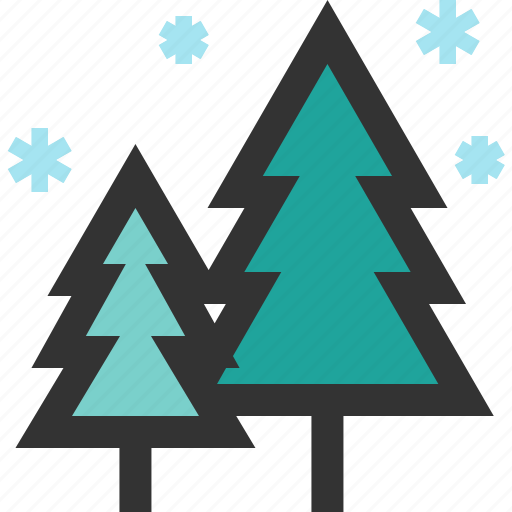 forest, pine, tree, winter icon