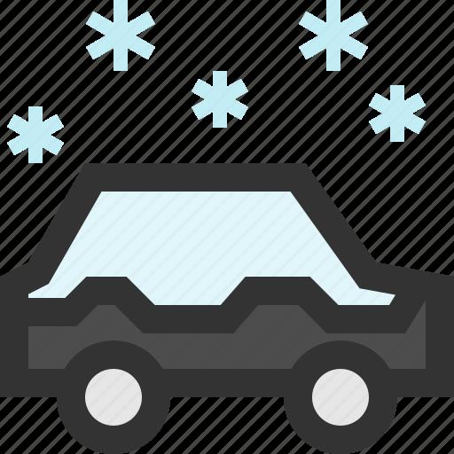 car, snow, transport, winter icon