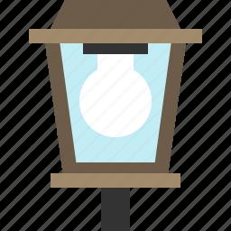 infrastructure, lamp, light, street icon