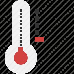 cold, dropping, temperature, winter icon