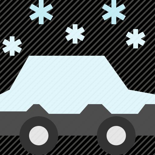 car, snow, vehicle, winter icon