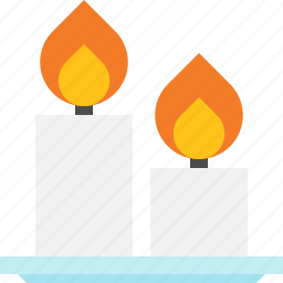 candle, fire, lamp, light icon