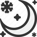 moon, night, snow, winter icon