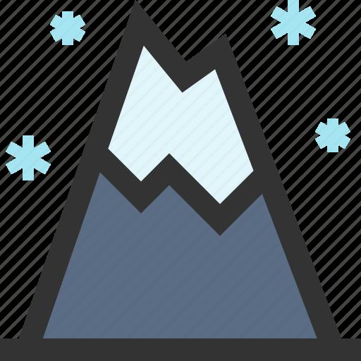landscape, mount, mountain, winter icon