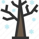 forest, snow, tree, winter