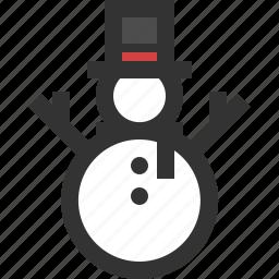 season, snow, snowman, winter icon