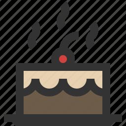 blackforest, cake, chocolate, taart icon