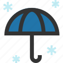 open, umbrella, unfurled, winter icon