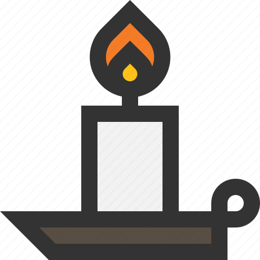 candle, fire, light, wax icon