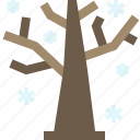 dried, forest, tree, winter icon