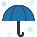 open, snow, umbrella, winter icon