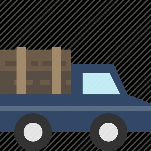 log, lumberjack, truck, wood icon