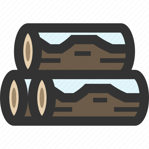 firewood, log, logging, wood icon