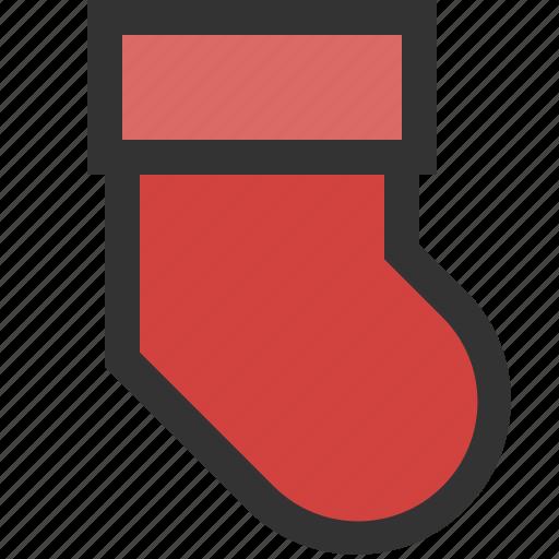 footwear, knitted, sock, warm icon
