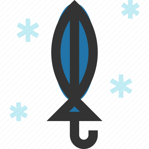 folded, furled, umbrella, winter icon