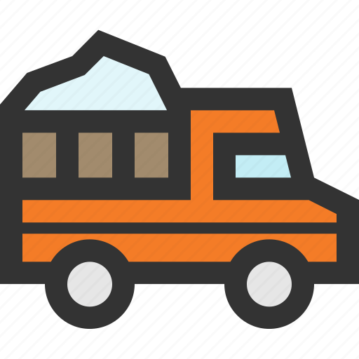snow, transport, truck, vehicle icon