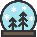 snowdome, snowglobe, water globe, winter icon